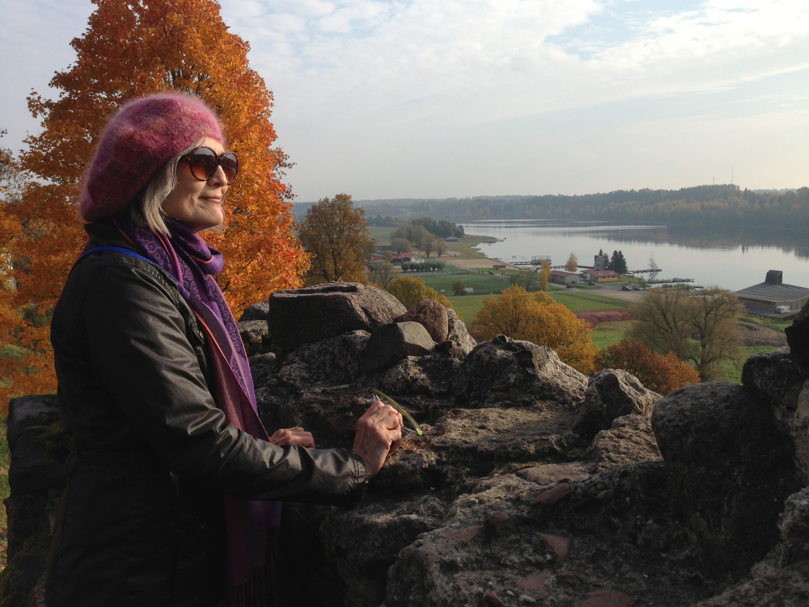 Ancient fortress in Viljandi overlooking river