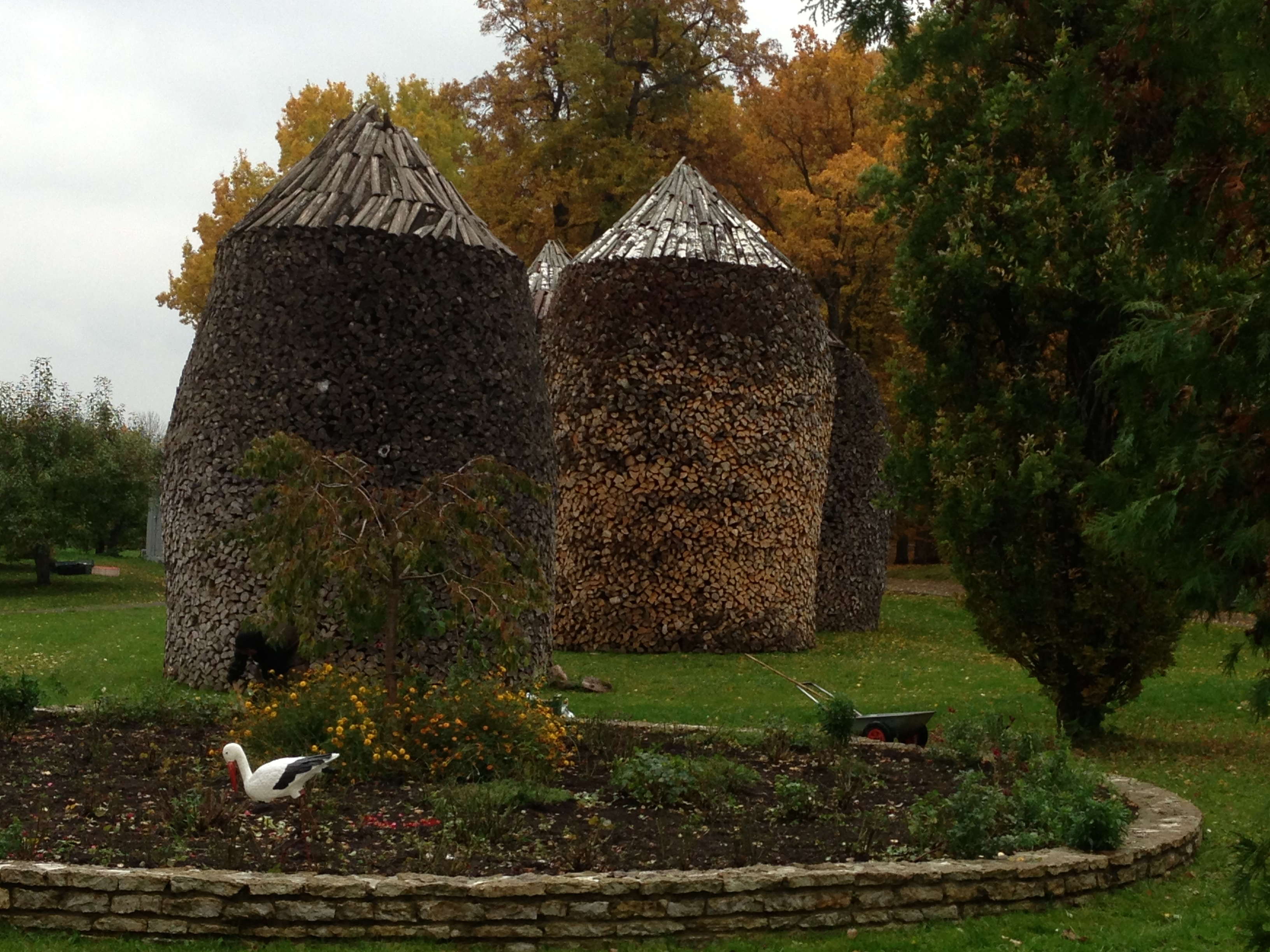 Amazing woodpile at a Russian Orthodox Convent  (how did they do that?!) in Eastern Estonia