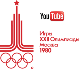 1980 Moscow Summer Olympics logo with YouTube logo